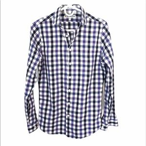 Express men's extra slim fit button down shirt